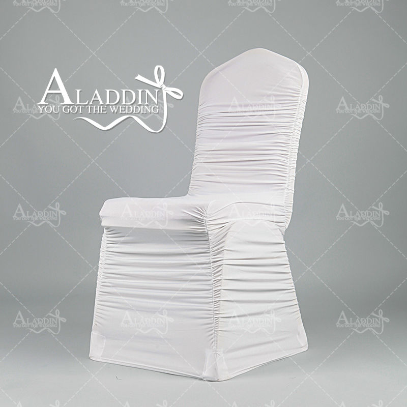 High quality polyester stretch chair cover for wedding with pleats from china home textile manufacturer(China (Mainland))
