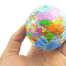 Welt Atlas Geographie Karte Earth Globe Stress Relief Bouncy Schaum Kinder Spielzeug #57602(China (Mainland))