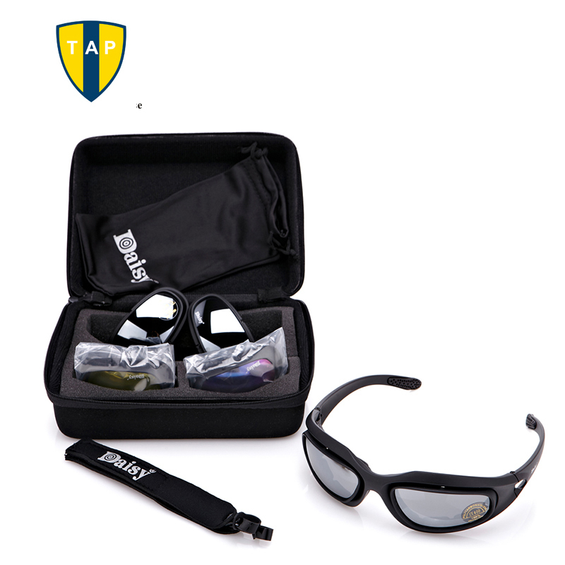 Daisy C5  Military glasses Men Motocycle Tactical  Sunglasses Outdoor Gafas Goggles 4 Lenses Polarized  Windproof Eyewear Oculos<br><br>Aliexpress