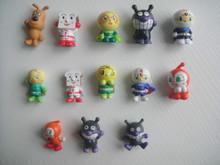 Envío gratis 10 unids/lote Anpanman juguetes pan Superman 3 cm Gashapon juguetes de los niños modelo regalo de la muñeca