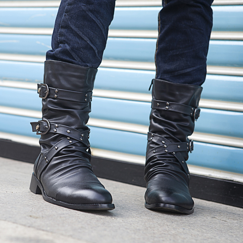 2014 Plus Size Cotton Boots British Male Fashion Male Boots Pointed Korean Fashion Boots  Martin Boots Free Shipping<br><br>Aliexpress