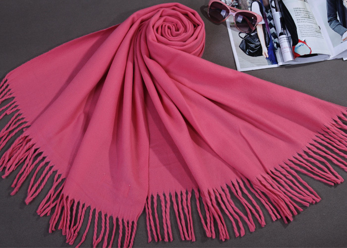 Free Shipping Rubber red Winter Women's Cashmere Shawl Scarf Thick Warm Wrap SY02013(China (Mainland))