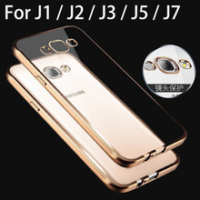 case for samsung galaxy j1 j2 j3 j5 j7 j 1 2 3 5 7 by silicone rose gold plating tpu transparent clear soft phone cover cases