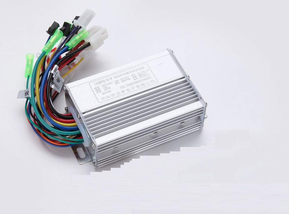 Free shipping 4 in 1 electric scooter ebike brushless controler 36v 48v 350w dc motor controller with 6pcs MOS(China (Mainland))