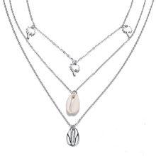 Modyle 26 Styles Boho colliers pour femmes Vintage or argent chaîne longue lune déclaration collier pendentif bohème Choker bijoux(China)