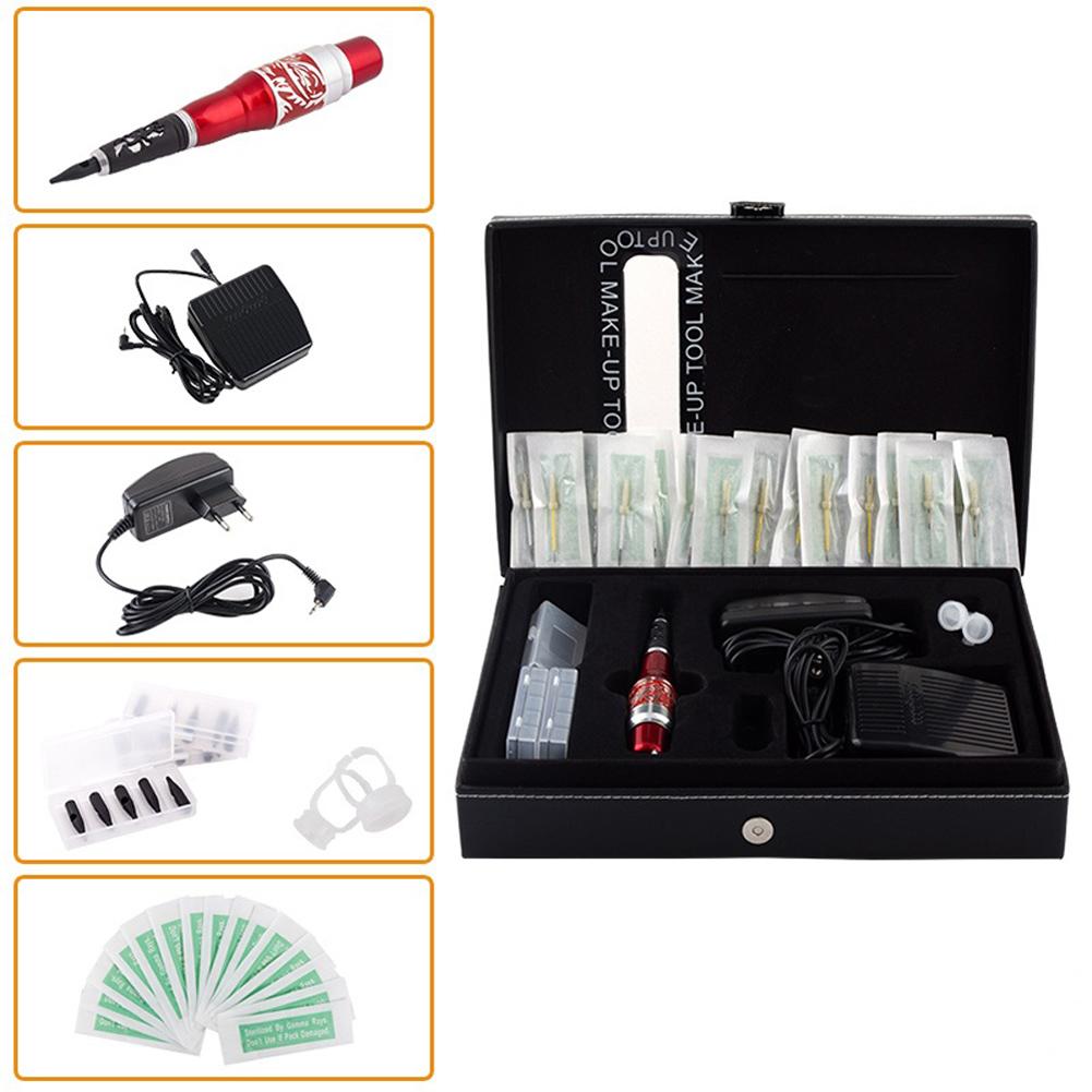 CH-102T Tattoo Machine Kit Permanent Makeup Eyebrow Pen Europe Style Professional Tattoo Kit(China (Mainland))