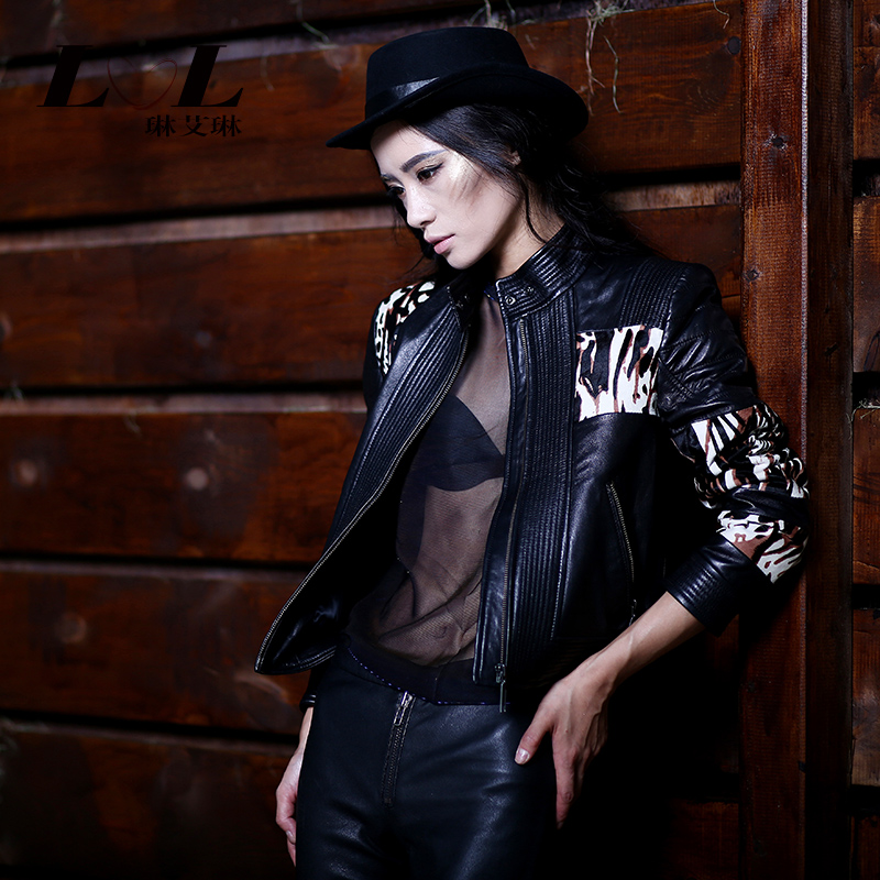 Free shipping genuine leather clothing female 2015 slim motorcycle cattle jacket leather clothing short design female outerwearОдежда и ак�е��уары<br><br><br>Aliexpress