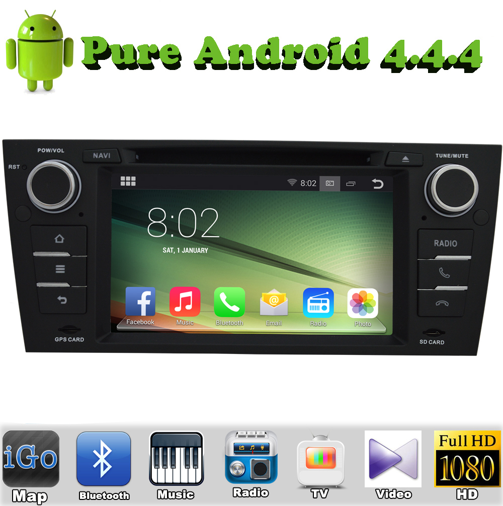 1 din Android 4.4.4 Car DVD For BMW E90 E91 E92 E93 with Touch Screen WiFi 1024*600 pix Bluetooth DVD Player(China (Mainland))