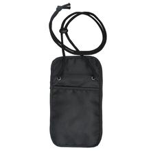 Secure Adjustable Strap Travel Wallet Black Neck Wallet Small Secure Pocket Vault Travel Neck Pouch