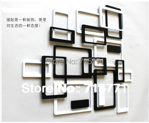 Ebay Hot 3D wall stickers home decor background stickers wooden decoration stickers photo frame home decoration New