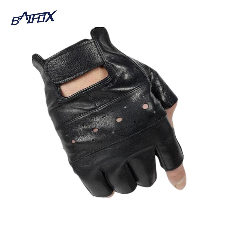 Motorcycle gloves half finger - Baifox Outdoor Sports Motorcycle Gloves Pro Biker Half Finger Racing Motocross Motorbike Gloves For Free Size