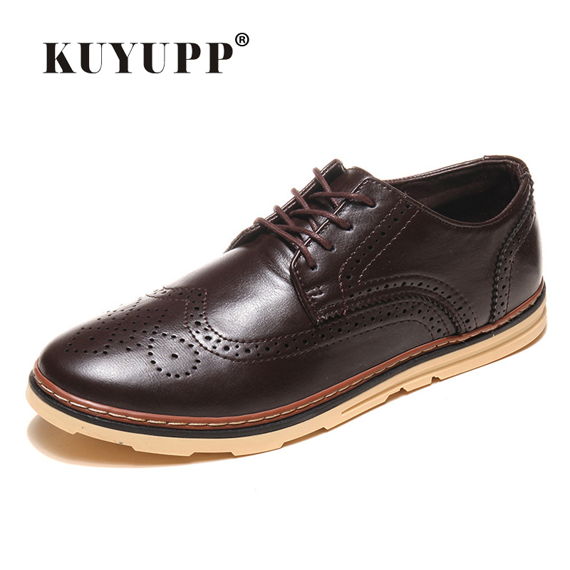 Size 39-44 Vintage Men Shoes Full Brogue PU Leather Fashion Casual Men Flats Freedom Shoes Round Toe Men Dress Shoes WS12(China (Mainland))