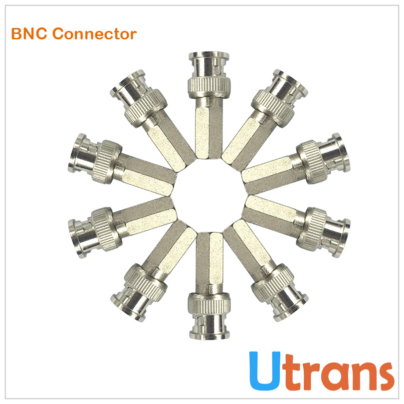CCTV Accesory 10pcs/Lot BNC Connector Adaptor for HD Surveillance Camera Coaxial Cable BNC Male Twist On(China (Mainland))