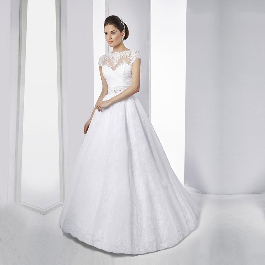 Vestido De Noiva Vintage White Lace Ball Gown Wedding Dresses Sexy Cap Sleeve Backless Wedding