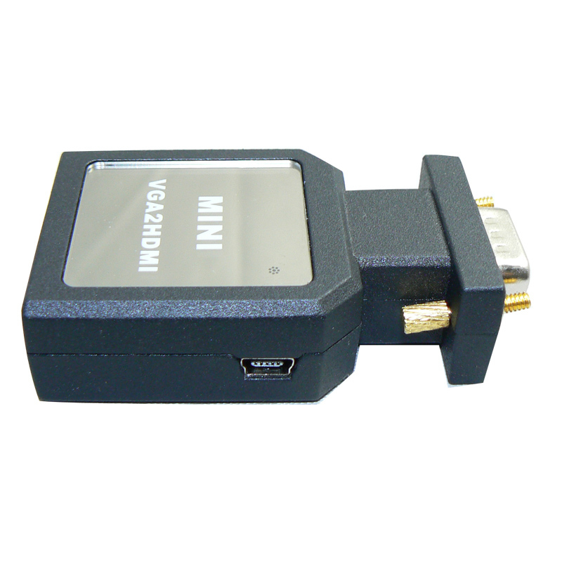 10pcs VGA to HDMI with Audio Cable VGA to HDMI Adapter Male To Female 1080p VGA to HDMI Converter Free shipping