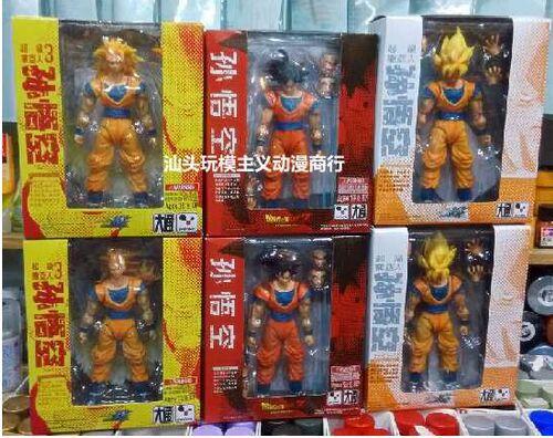 Special Offers DATONG SHF dragon ball z Super Saiyan 3 SS3 Gokon SS1 Goku black hair son goku action figure Classic toy model(China (Mainland))