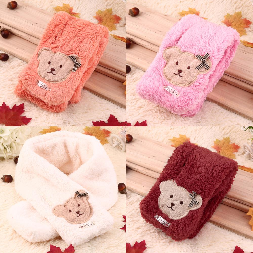 New Children's Scarf Boy Girl Warm Shawl Winter Cute Bear Style Neck-Warmer Cold-Proof Kids Warmer Muffler New Hot Selling(China (Mainland))