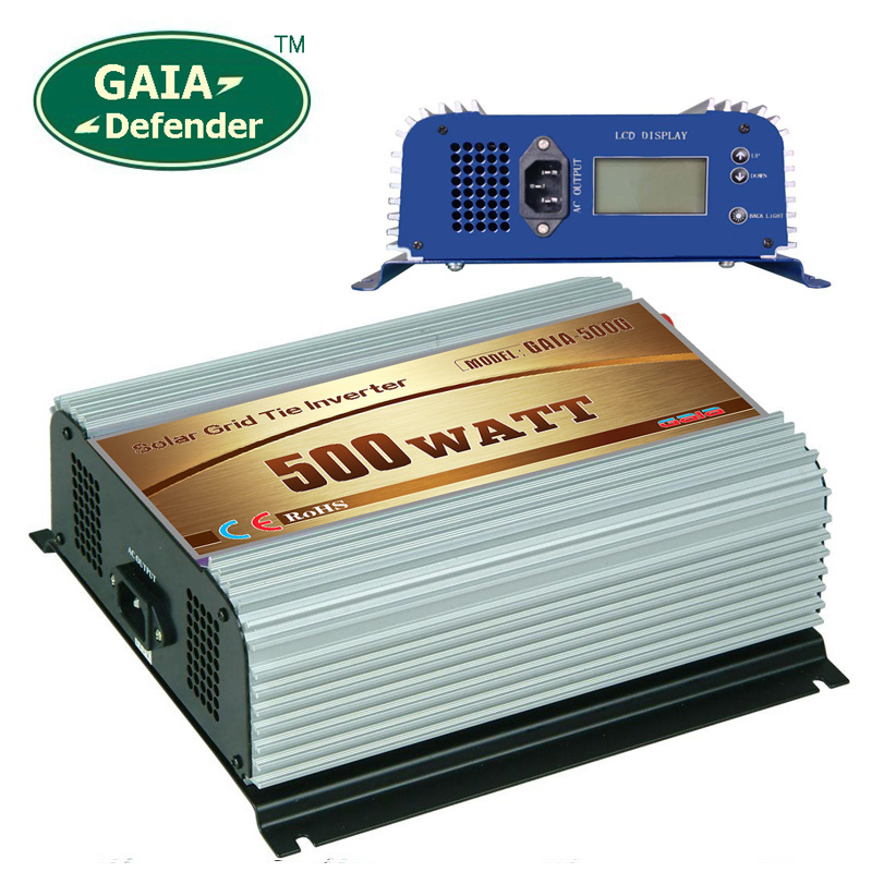 500W Solar Grid Tie Inverter DC 10.8V-30V AC 90V-140V for 100V 110V 120V LCD display(China (Mainland))