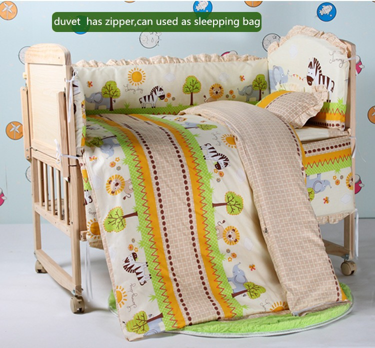 Фотография Promotion! 10PCS Cheap Price Baby bedding Baby Crib Accessories (bumper+matress+pillow+duvet)