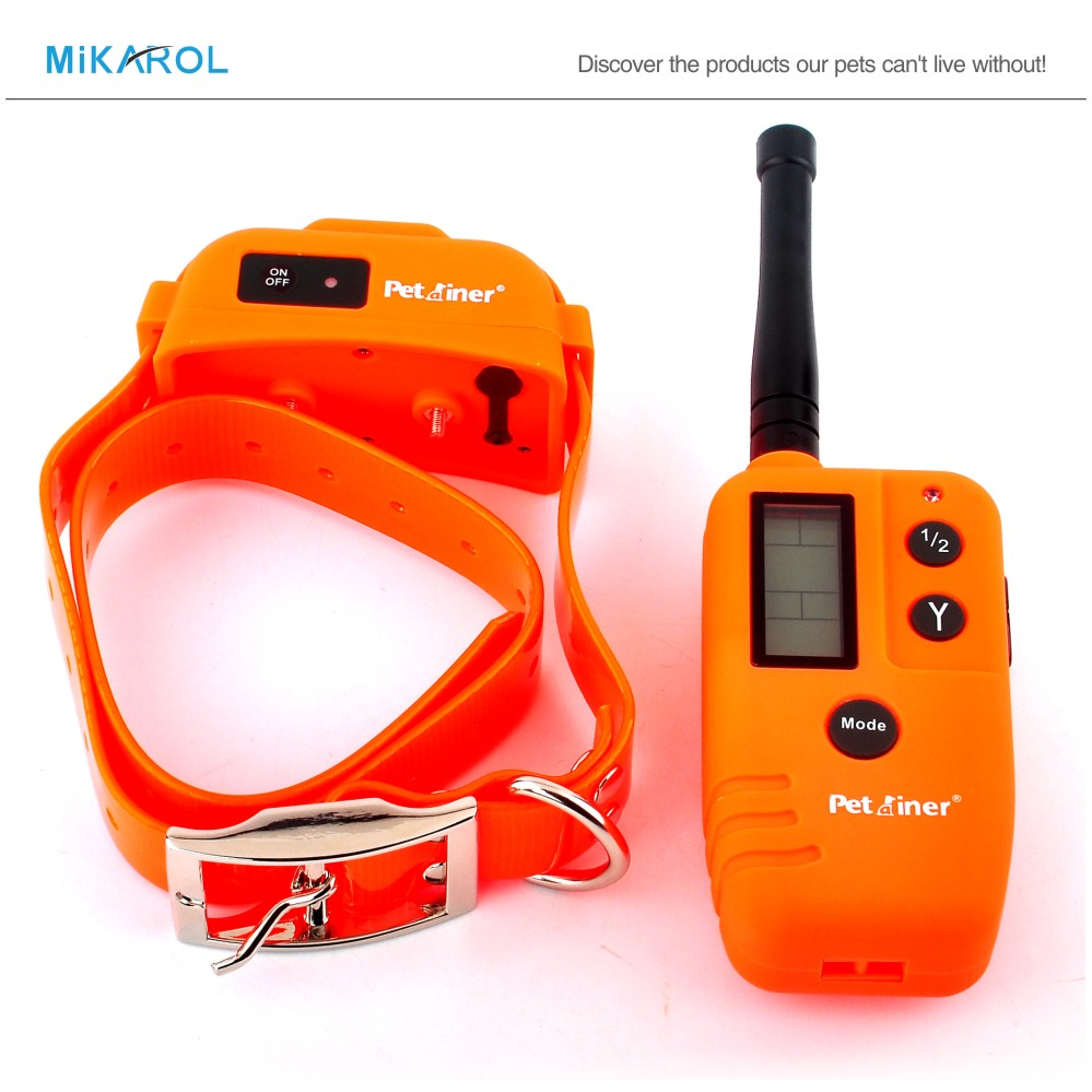 Dog Remote Training Shock Collar for Dogs, Rechargeable Dog Collar + 9 Levels Shock Vibration Selectable, LCD Display Screen(China (Mainland))