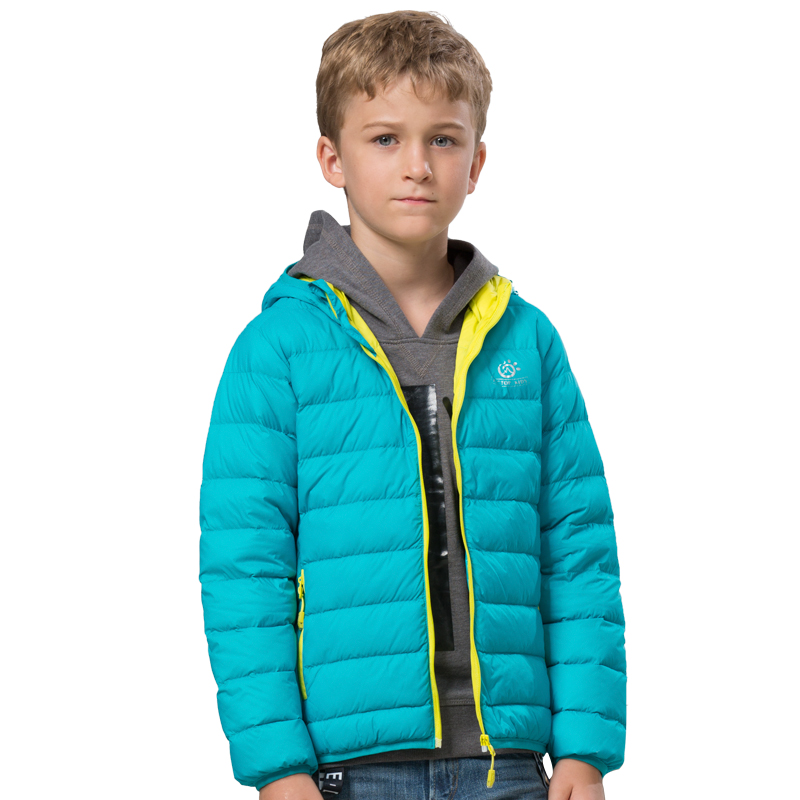 Dropshipping 120-150 Baby girls down coat fashion new hooded kids down jacket outwear children thick winter 2015 kids warm coat