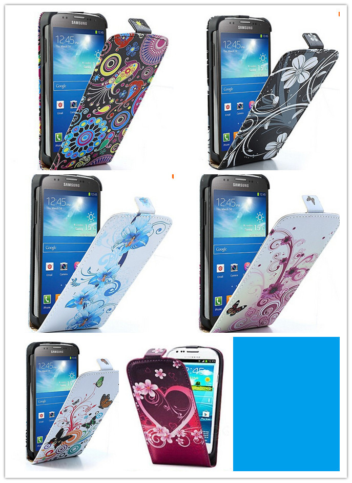 Cute color pattern PU Flip Leather Case For Samsung Galaxy Grand Neo /Grand Dous i9082 i9080 i9060 i9062
