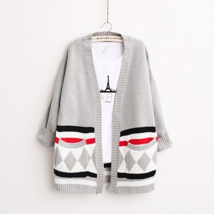 South Korea Female Coat Sweater Cardigan In Spring 2015 Ms. Women's women's cardigan women sweater Free shopping(China (Mainland))