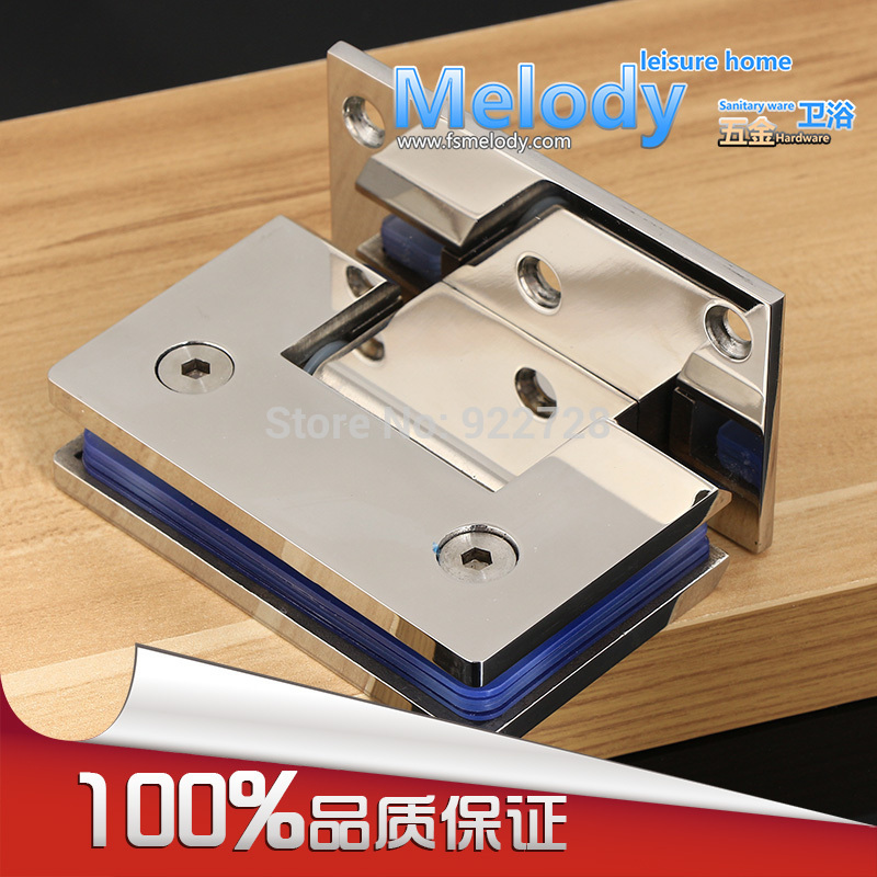 H90S 10 years Warranty Wall to Glass Offset Square Geneva Cutout Frameless Shower Door Hinge - Polished Chrome(China (Mainland))
