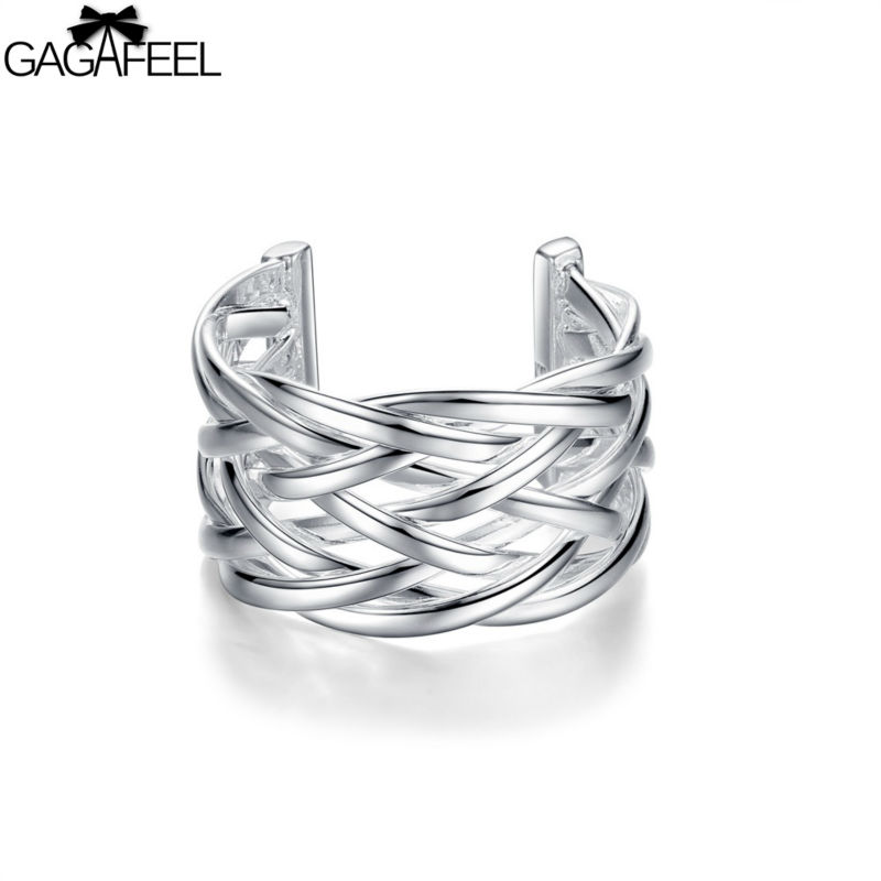 silver jewelry Women wedding adjustable rings price gifts GAGAFEEL - Gagafeel Jewelry Factory Co., Ltd store