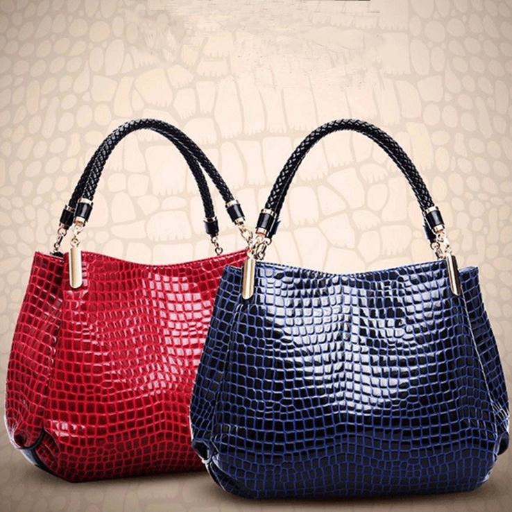 Гаджет  2015 New Famous Brands Crocodile Women Furly Candy Handbags Fashion Bolsas Femininas Multifunction Zipper Cosmetic Bags None Камера и Сумки