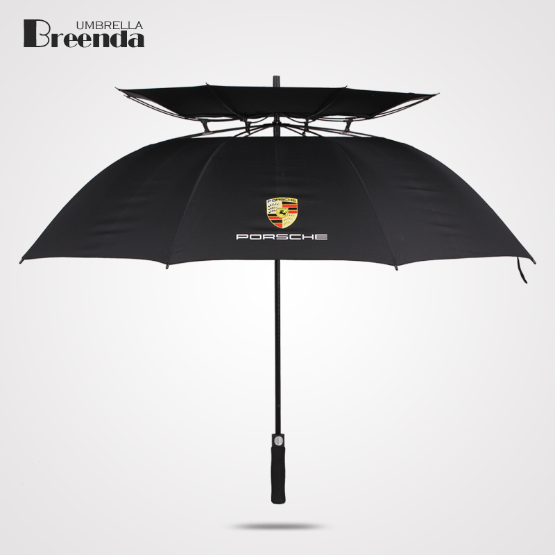 Vented Umbrella Creative Super Large Double Layers Golf Long Handle Umbrella Windproof UV Protection Men's Custom Umbrella(China (Mainland))