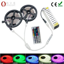 5m 600 leds 5050 led strip 10M rgb 60LEDs/M Flexible led strip RGB ribbon + 44keys IR Remote Controller + 12V 78W Power supply(China (Mainland))