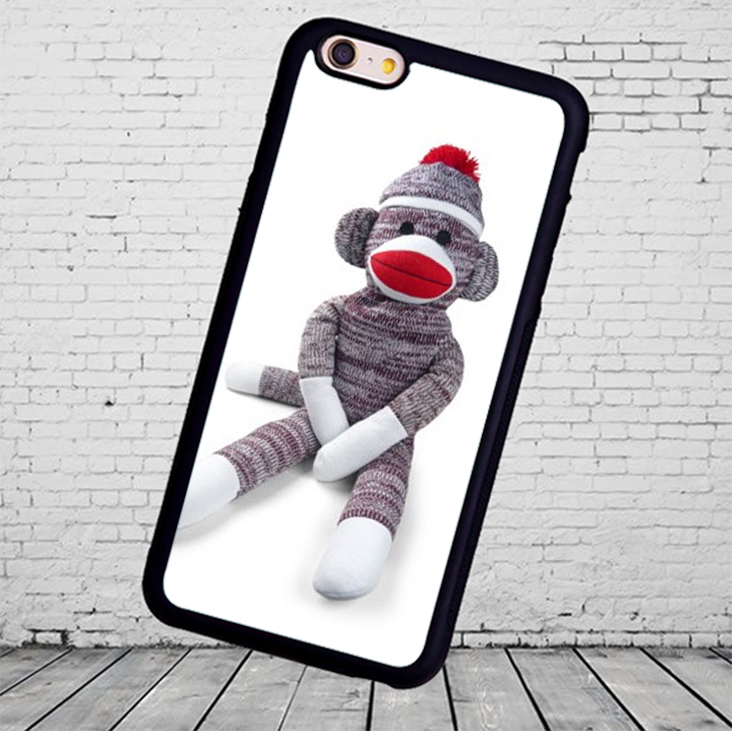 Sock Monkey Doll Stuffed Doll Mobile Phone Cases For iPhone 6 6S Plus 7 7 Plus 5 5S 5C SE 4S Soft Rubber Cover Shell(China (Mainland))