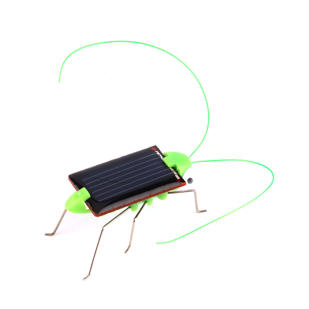 Creative Solar Powered Mini Running Grasshopper for Children Toys Present Worldwide sale(China (Mainland))