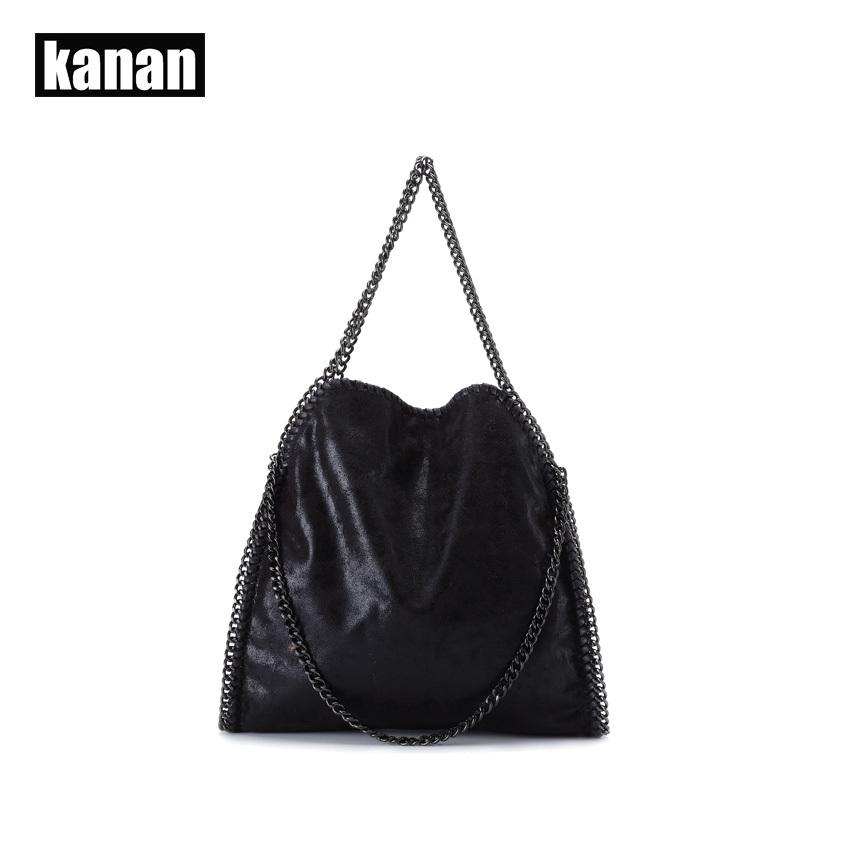 KANAN 2015 new fashion women leather handbag portable shoulder chain sequins woman bag ladies bolsa feminina carteras mujer(China (Mainland))