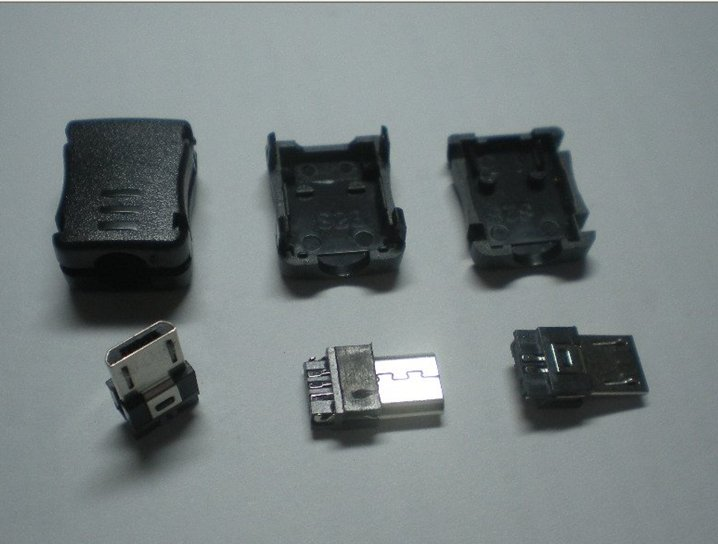 micro usb connector 5pin male Solder+plastic casing(China (Mainland))