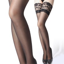 Summer Style Ultrathin Sexy Women Tights Stockings Lace Top Thigh High Ultra Sheer Knee High Stockings Tights Lingerie EQ6623