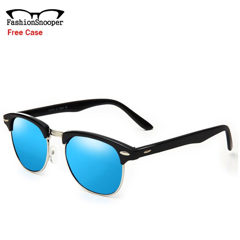 Fashion Semi-Rimless Sunglasses Men Original Brand Designer Sun Glasses Unisex Retro Coating Eyewear Oculos With Case EC9041(China (Mainland))