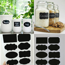 40PCS New Wedding Home Kitchen Jars Blackboard Stickers Chalkboard Lables NG4S(China (Mainland))