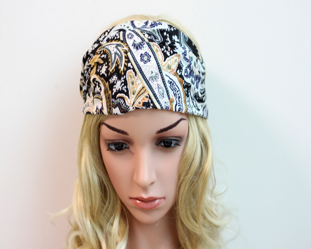 2016 New women headband style Bohemia beam hairband fashion Chiffon Yoga headbands turban 6colors(China (Mainland))