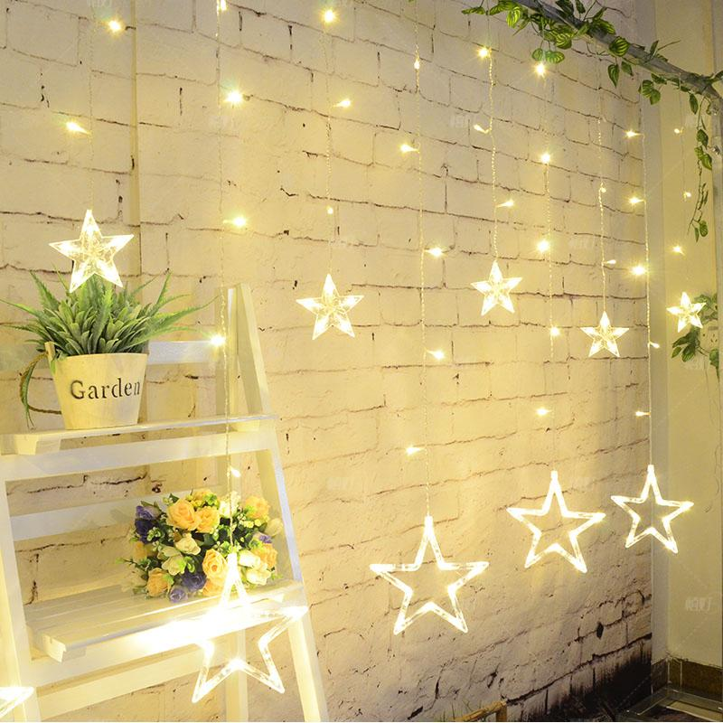 five star tail plug 110 240v decoration mariage fairy star curtain icicle light for wedding - Aliexpress Decoration Mariage