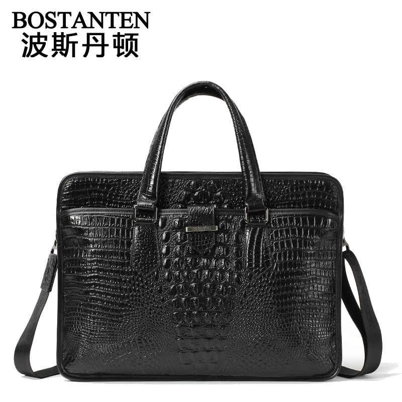 Promotion Men Head Layer Cowhide leather Handbag men's Briefcase western fashion crocodile Bags casual shoulder messenger bag(China (Mainland))