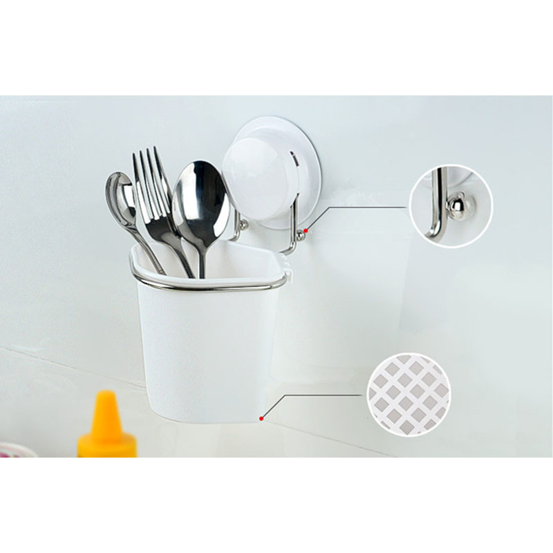 Buy Kitchen Organizer Box New Unique Plastic Stainless Steel Knife Fork Storage Bin Easy Clean 260115 cheap