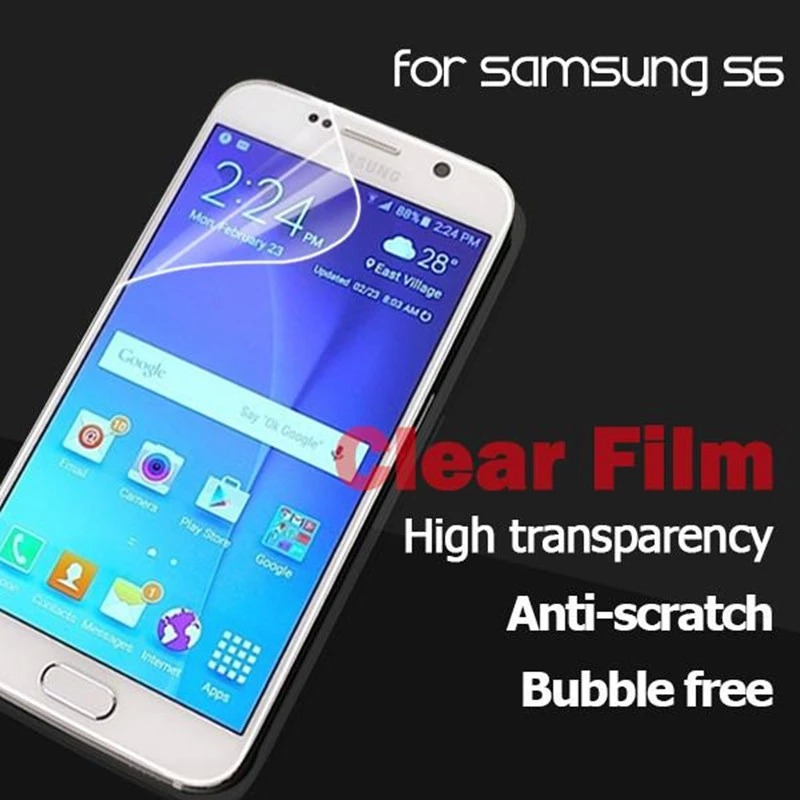 1pc/lot Free Shipping Crystal Clear Screen Protector Film Guard For Sumsang S6 G9200(China (Mainland))