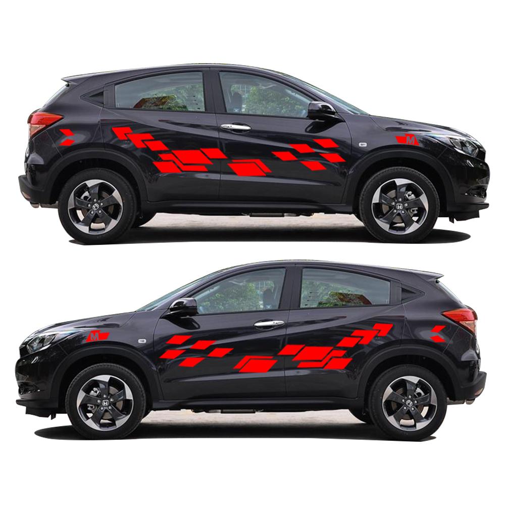 Honda car sticker design - 2pcs Car Accessories 2017 New Creative Car Sticker For Honda Vezel Funny Diy Decal Sticker Car