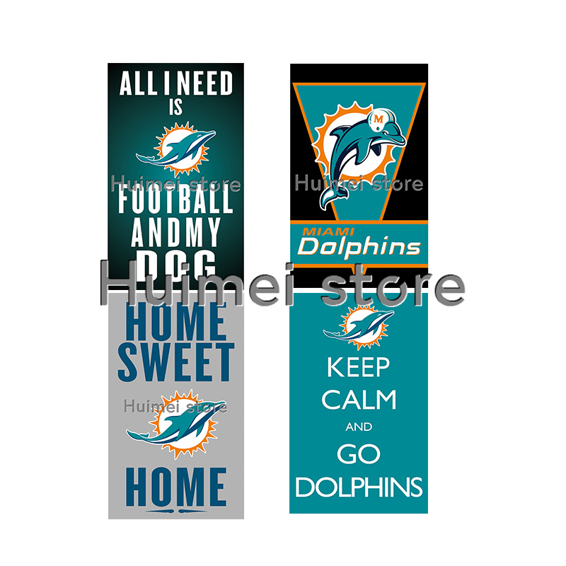 NF*L football jersey flag with metal rings 3x5ft Miami Dolphins flag(China (Mainland))