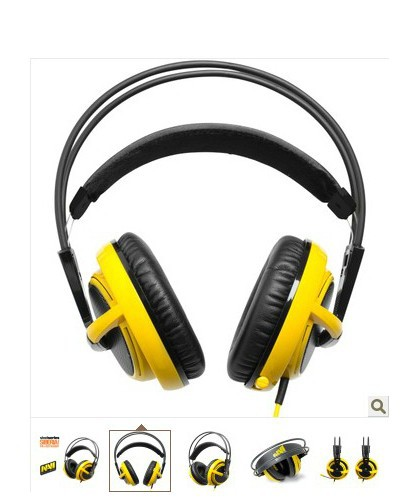 New SteelSeries Siberia V2 Headset for Gamers and Audiophiles Headphone Yellow(China (Mainland))