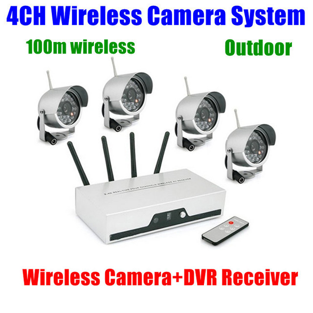 4ch cameras wireless dvr receiver kit wifi quad video. Black Bedroom Furniture Sets. Home Design Ideas