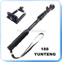 Original High Quality Aluminum YUNTENG 188 Monopod Selfie Stick Palo + Phone Holder Clip For Digital Camera All Phones Hot Sale