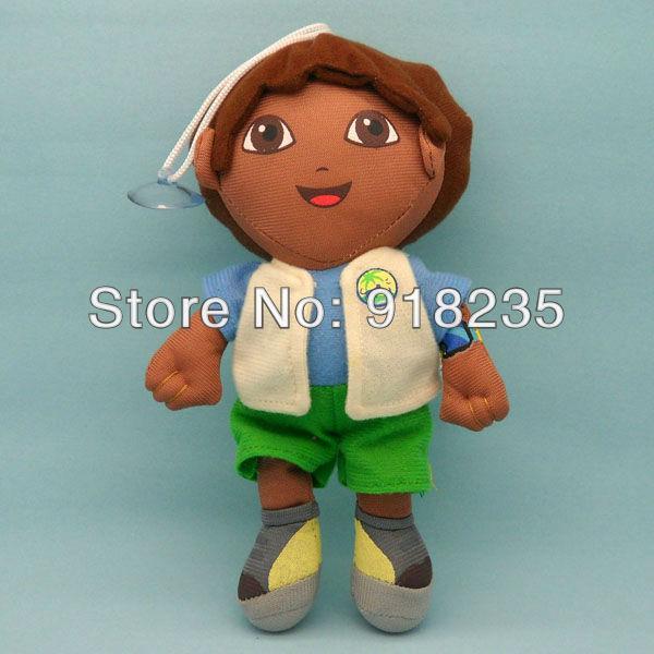 "Free Shipping EMS 100/Lot 8"" Dora the Explorer Go Diego Go Plush Dolls Toy Wholesale(China (Mainland))"